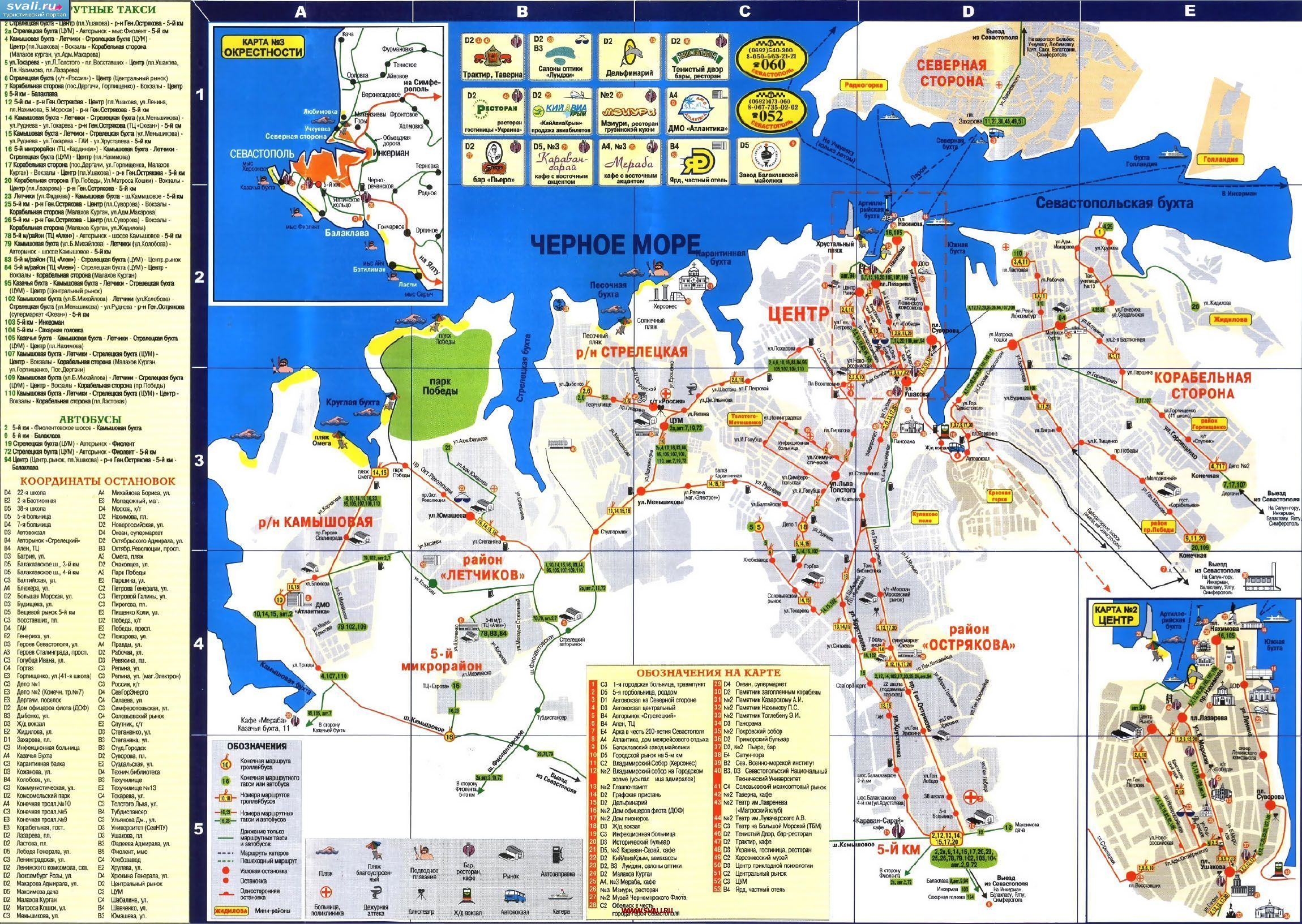 Карта Крыма  travelermircom